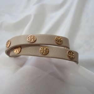 Tory Burch NWOT Double Wrap Logo Bracelet Rose